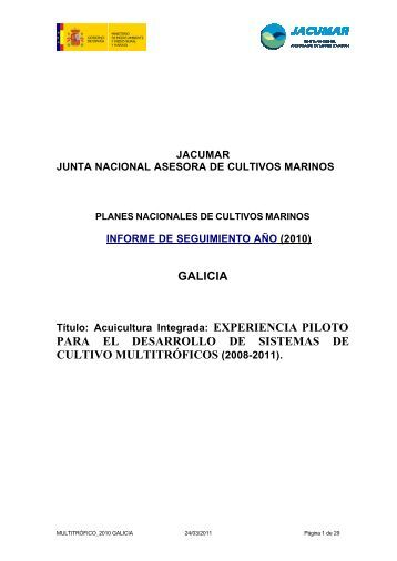 jacumar junta nacional asesora de cultivos ... - Acuicultura Integrada