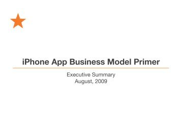 iPhone App Business Model Primer - SuperData Research