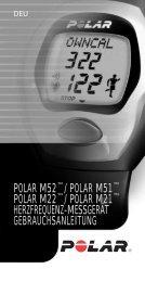 POLAR M52™/ POLAR M51™ POLAR M22 ... - Fahrrad Kaiser GmbH