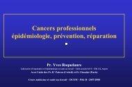 Cancers professionnels - Université d'Angers