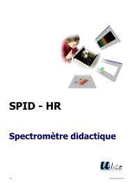 Spectromètre fibré - Université d'Angers