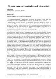 Mesures, erreurs et incertitudes en physique-chimie - Union des ...