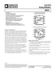 AD633 Low Cost Analog Multiplier Data Sheet - Université d'Angers