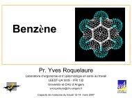 Benzène - Université d'Angers