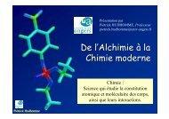 Histoire de la chimie - Université d'Angers
