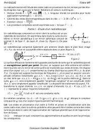 PHYSIQUE Filière MP Concours Centrale-Supélec 1999 Partie I ...
