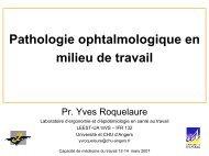 Pathologie ophtalmologique en milieu de travail - Université d'Angers