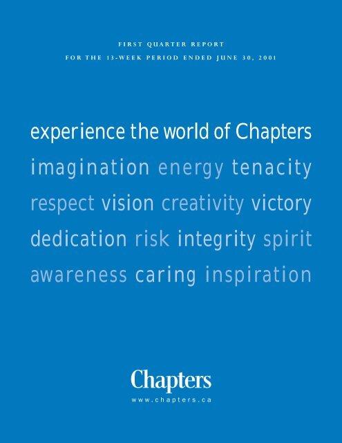 CHP Q1 NEW rev - Chapters.Indigo.ca