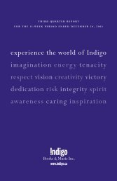 experience the world of Indigo imagination energy tenacity respect ...