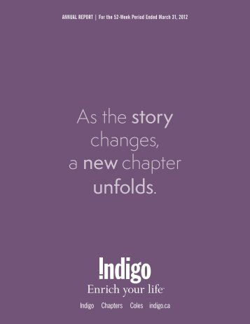As the story changes, a new chapter unfolds.