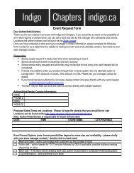 Event Request Form 2011 - Chapters.Indigo.ca