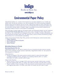Environmental Paper Policy - Chapters.Indigo.ca