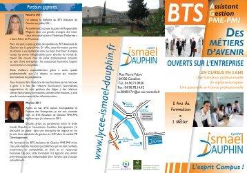 BTS Assistant de Gestion PME-PMI - Lycée Ismael Dauphin