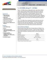 Commercial VCSELs and VCSEL arrays designed     - ULM Photonics