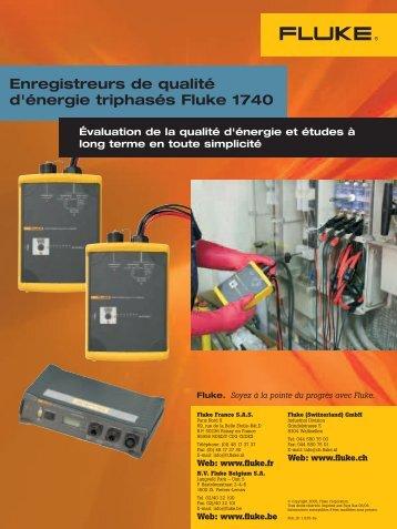 Enregistreurs de qualité d'énergie triphasés Fluke 1740