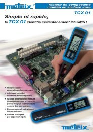 TCX 01 Testeur de composants montés en surface (CMS)