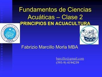 Fundamentos de Ciencias Acuáticas – Clase 2 - DSpace en ESPOL