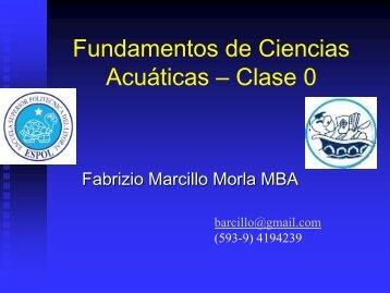 Fundamentos de Ciencias Acuáticas – Clase 0 - DSpace en ESPOL