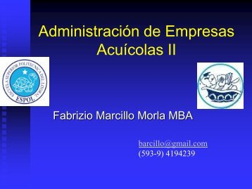 Administración de Empresas Acuícolas II - DSpace en ESPOL