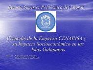 Creación de la Empresa CENAINSA y su Impacto Socioeconómico ...