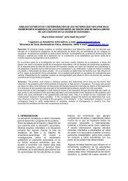 análisis estadístico y determinación de los factores que influyen en ...