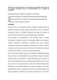 Proyecto de comercialización de los productos chocolitas y Mi ...