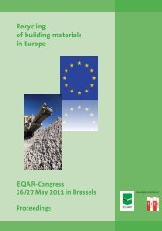 Recyclable building materials - European Quality Association for ...