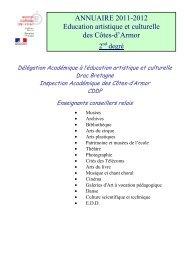 ANNUAIRE 2011-2012 Education artistique et culturelle des Côtes ...
