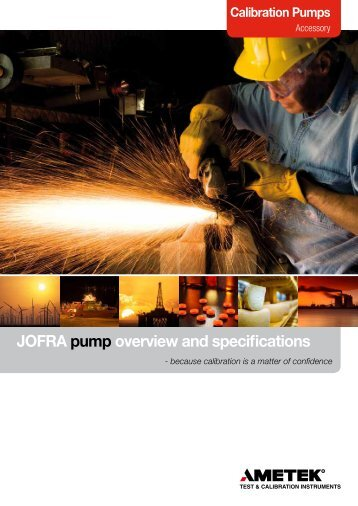 JOFRA pump overview and specifications