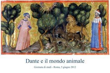 Dante e il mondo animale - GINA
