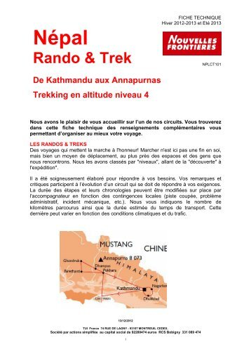 npl TREK KTM AUX ANNAPURNAS Circuit Rando et ... - Marmara