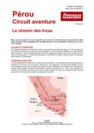 PERCT022 Chemin des Incas A13 - Marmara