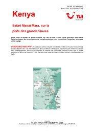 SAFARI MASAI MARA, SUR LA PISTE DES GRANDS ... - Marmara