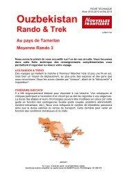 V2 TREK ok UZB PAYS TAMERLAN NF Circuit Rando et ... - Marmara