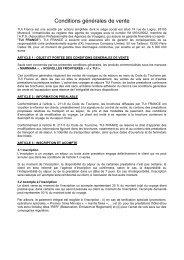 Conditions générales de vente NF - Marmara