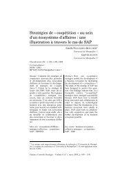 Stratégies de « coopétition - LEG - Laboratoire d'économie et de ...