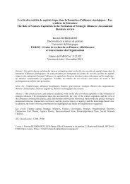 Le rôle des sociétés de capital-risque dans la formation d'alliances ...