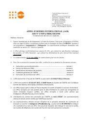 appel d'offres international - UNFPA Madagascar