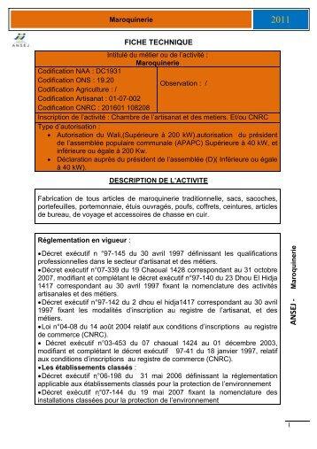 Maroquinerie - ANSEJ