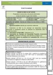 Préparation et conservation de produits alimentaires à ... - ANSEJ