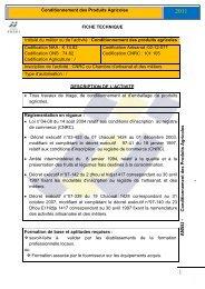 Conditionnement des produits agricoles - ANSEJ