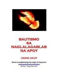 Tagalog: Baptize by Blazing Fire Book 1