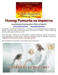 TAGALOG: Don't go to Hell, Pictures from the Pit
