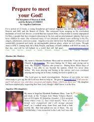 Prepare to Meet Your God, Angelica Zambrano - Divine Revelations