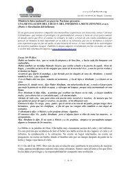 Ministerio Internacional Luz para las Naciones presenta: UNA ...