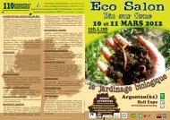 programme ecosalon 2012 - Editions l'Instant Présent