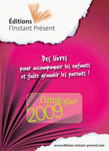 Catalogue - Editions l'Instant Présent