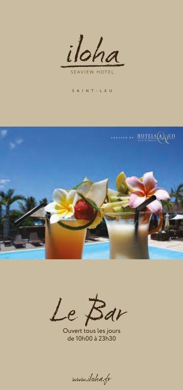 la carte du bar - Iloha