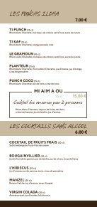 la carte du bar - Iloha - Page 4