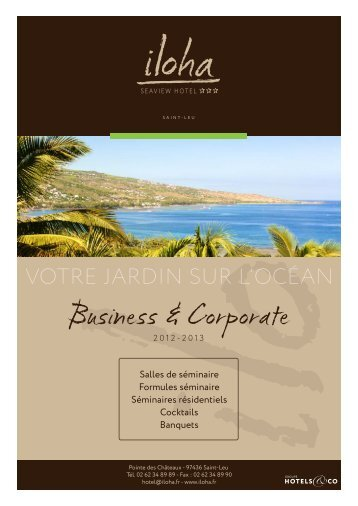 nos offres Business - Corporate - Iloha